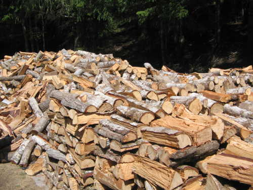 Seasoned logs are made after a great deal of preparation