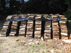 drying firewood