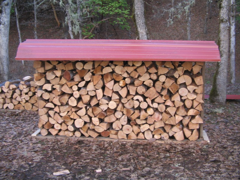 How To Build A Covered Firewood Storage Rack