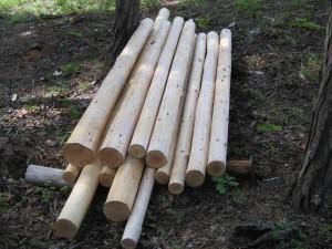 Peeled Douglas Fir Poles
