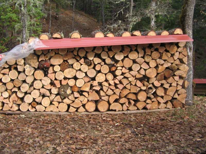 Metal Roofing Firewood Cover