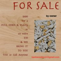 BIRCH firewood for sale by owner